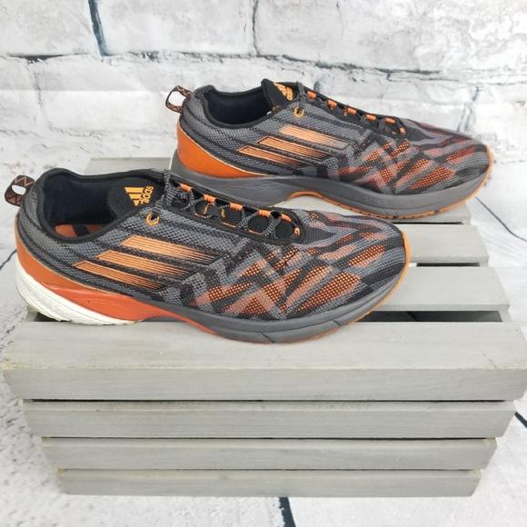 le adidas mens orangeblack adiprene in scarpe da ginnastica poshmark